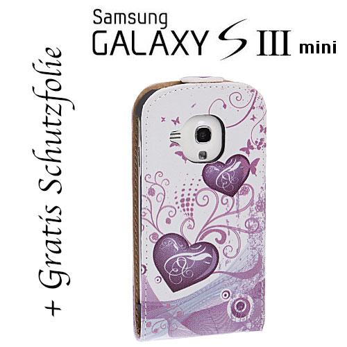 samsung galaxy s3 mini i8190 leder tasche h lle case. Black Bedroom Furniture Sets. Home Design Ideas